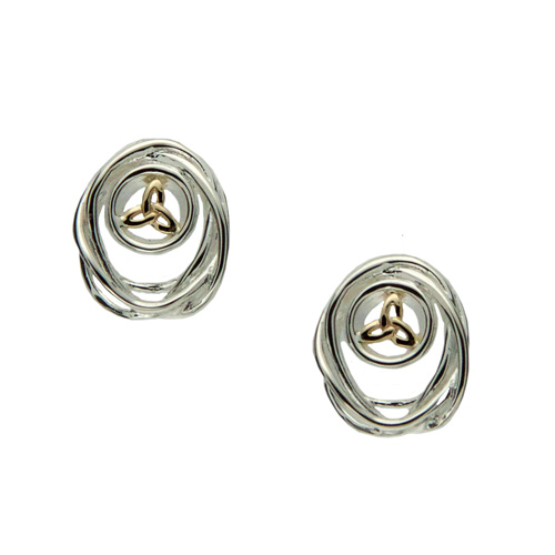Cradle of Life Earrings SS 10kt Gold PEX10480