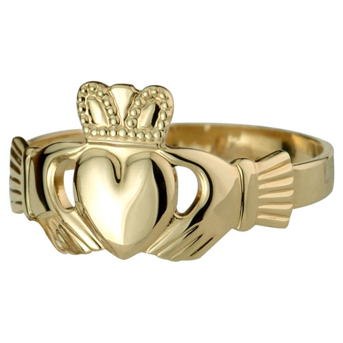 Gents-Claddagh-Ring-14kt-Yellow-Gold-S2981