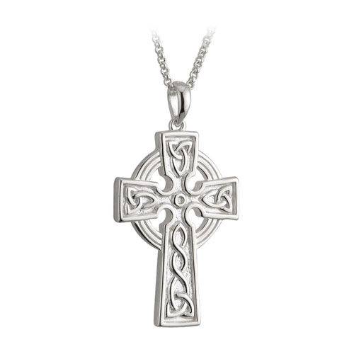 Double Sided Celtic Cross Large Sterling Silver S44787
