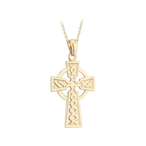 Celtic Cross Large 10kt Yellow Gold