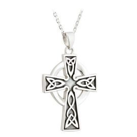 Celtic Cross Oxidized Sterling Silver S45536