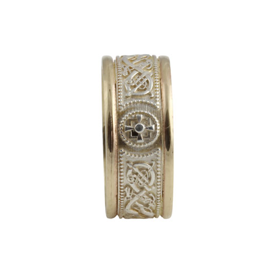 Celtic Warrior Shield Ring Small SS 10kt Gold KELGSCWS