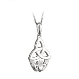 Claddagh Large Trinity Knot Pendant Sterling Silver S4197
