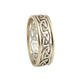 Eternal Celtic Knot Ring Small SS 10kt Gold KELGS3S
