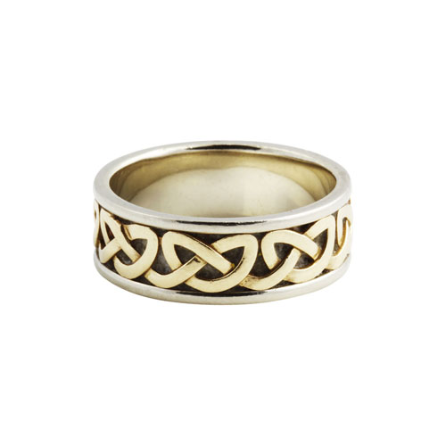 silver ss knot ring all celtic rings ladies