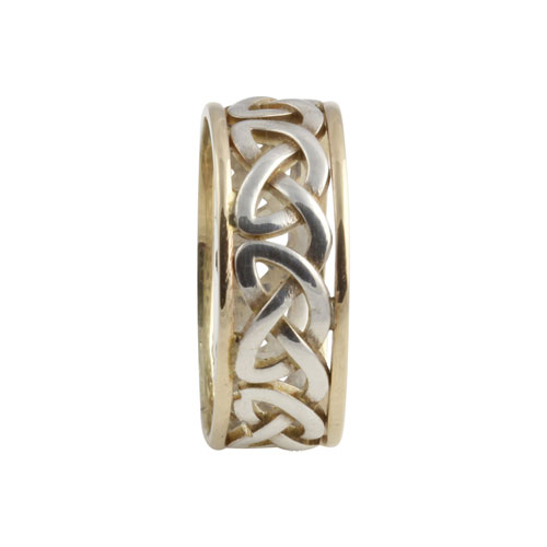 Heart Celtic Knot Ring Large SS & 10kt Gold KELGSCHL