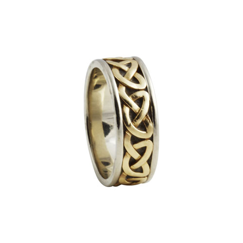 Heart Celtic Knot Ring Small 14kt Gold KELKAR03S