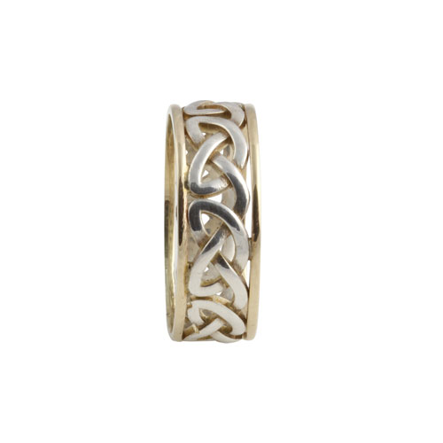 Heart Celtic Knot Ring Small SS 10kt Gold KELGSCHS