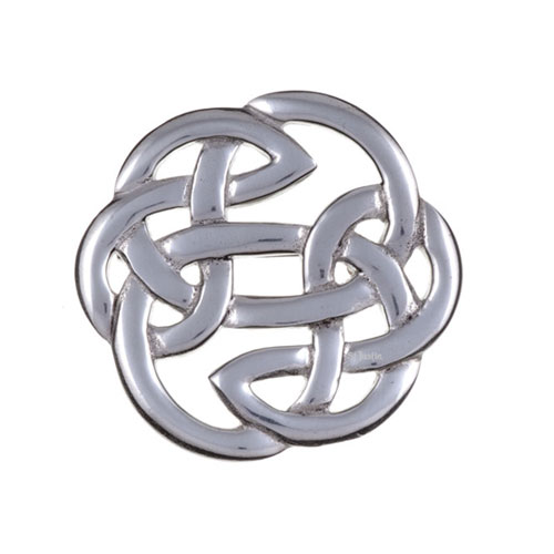 Lughs Knot Brooch Medium Pewter PB65
