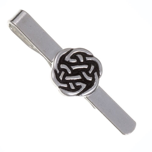 Lughs Knot Tie Bar Pewter CT12