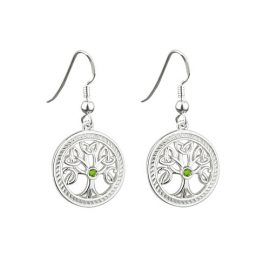 Tree of Life Drop Earrings Sterling Silver S33230