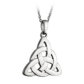 Trinity Knot Pendant Circle Accent Sterling Silver S4095