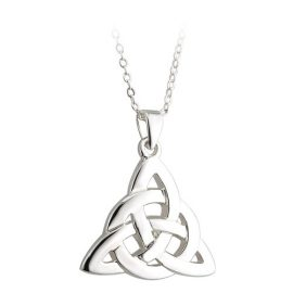 Trinity Knot Pendant with Circle Accent Rhodium Plated S45241