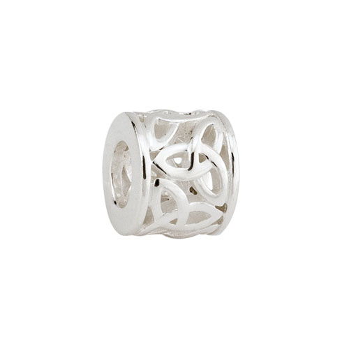 Trinity Knot Tube Celtic Bead Sterling Silver S80094