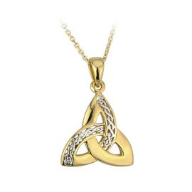 Trinity Knot Two Toned Pendant Silver & Gold Plated S44914