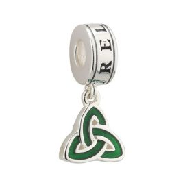Trinity Knot with Enamel Accent Dangle Bead Sterling Silver S80358