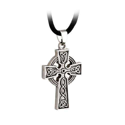 Celtic Cross with Cord Pewter S44610