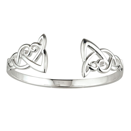 Celtic Knot Torc Bangle Sterling Silver S5265