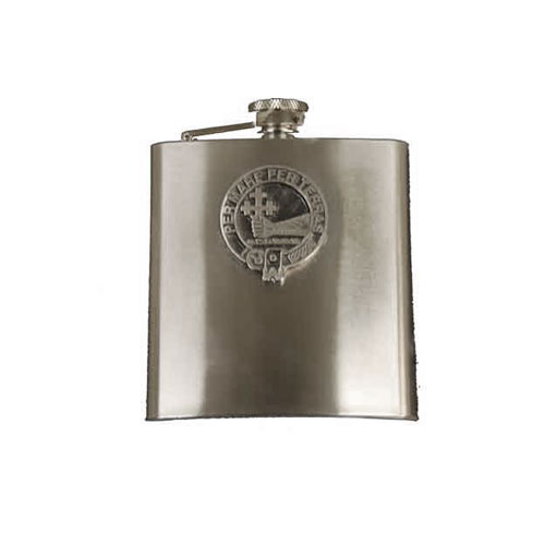 clan-crest-budget-hip-flask-stainless-steel-sm755