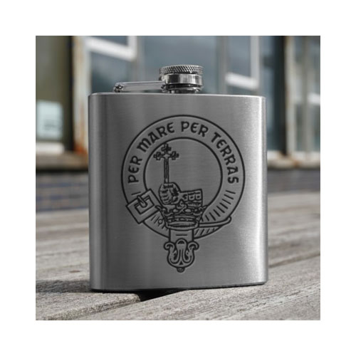clan-crest-hip-flask-stainless-steel-apsjhf6