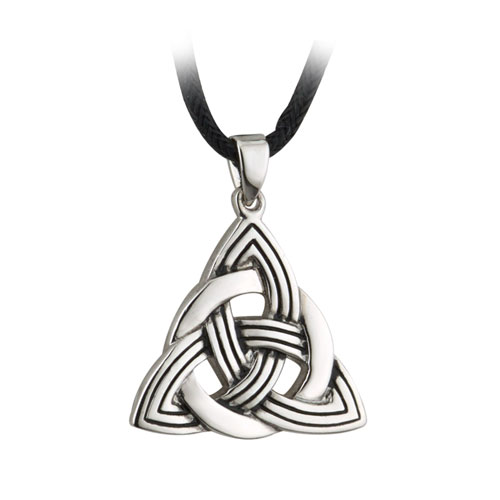 Trinity Knot with Cord Pewter S44608