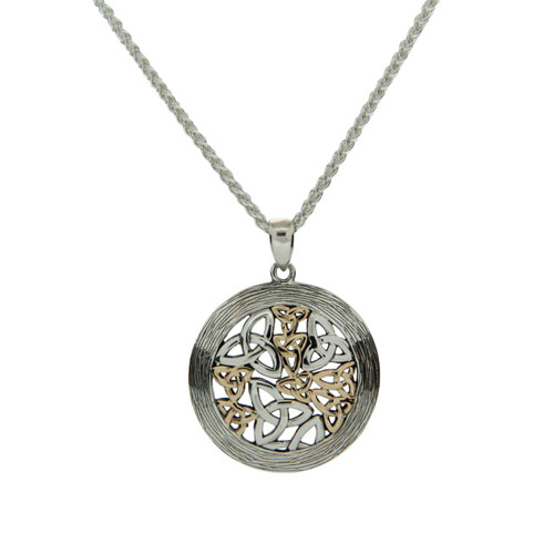 Round Trinity Pendant SS 10kt Gold PPX8111