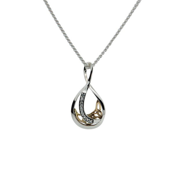 Tear Drop Trinity Pendant White Sapphire PPX8224WS