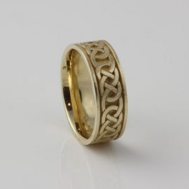 Infinity Celtic Knot Ring 10kt Yellow Gold