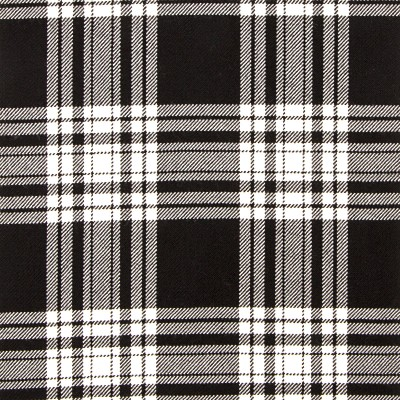 Menzies Black White Modern Strome HW Tartan