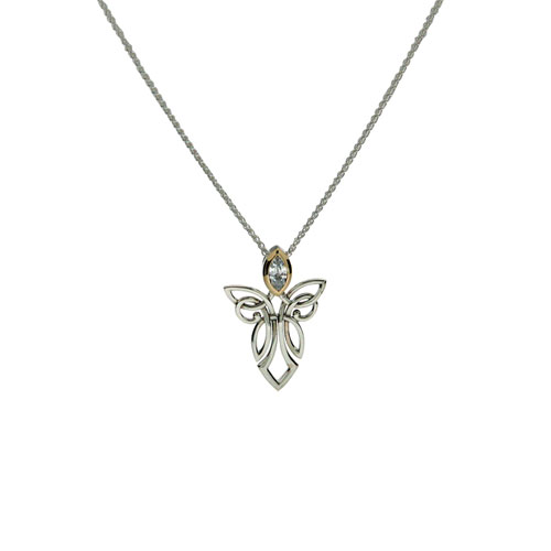 Angel Pendant Sterling Silver & 10kt Gold PPX7848