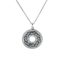 Window to the Soul Pendant CZ SS & Black Enamel PPE6247-BL