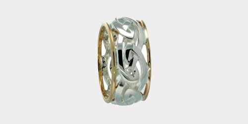 Silver & Gold Celtic Knot Rings
