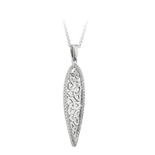 Trinity Knot Pendant with CZ Accent Sterling Silver S46448
