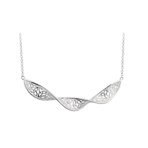 Trinity Knot Spiral Necklet Sterling Silver S46445